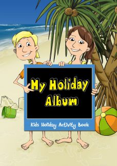 Beach Theme Kids Activity Book suitable for holiday parks, restaurants and clubs