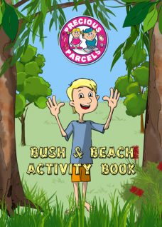 Bush and Beach Kids Activity Book suitable for holiday parks, restauarants and clubs