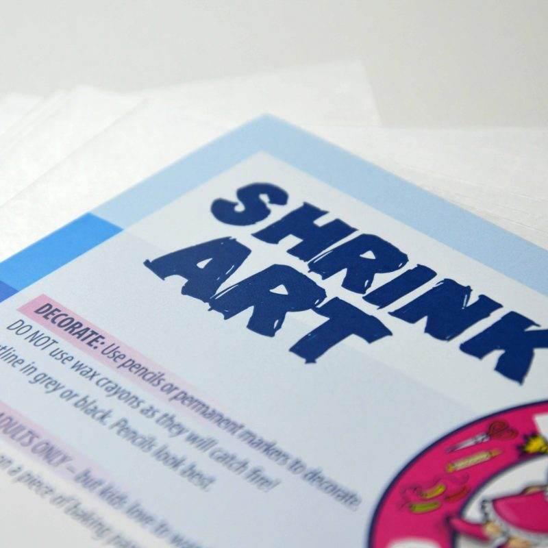 Shrink Film by Kidsplay Crafts comes in packs of 20 or bulk packs of 100 to save you money.