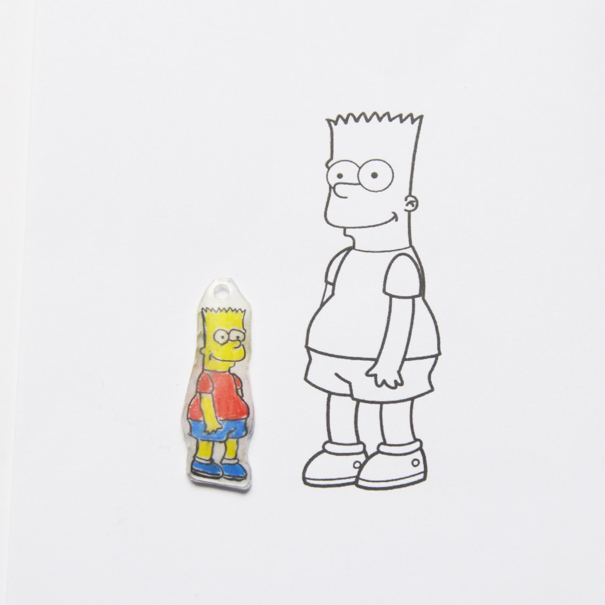 Trace your favourite cartoon character with shrink film