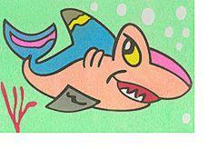 sand art shark