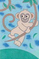 Sand Art Card No. 50 Monkey in a tree