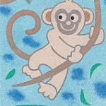 Sand Art Card No. 50 Monkey in a tree