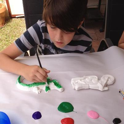 plaster painting activity for fetes
