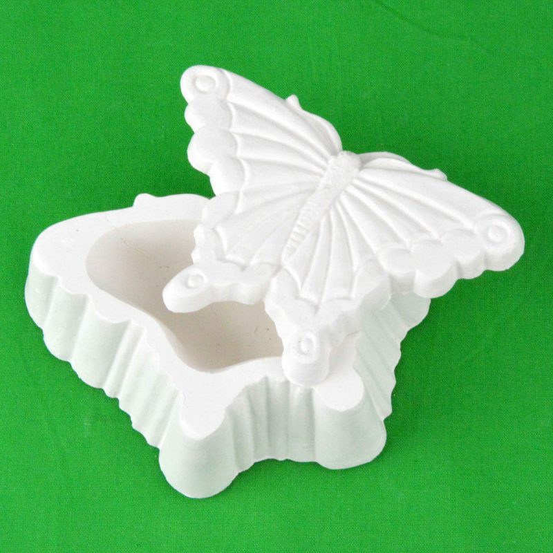 Large Pl;aster - Piece - Butterfly Shaped box