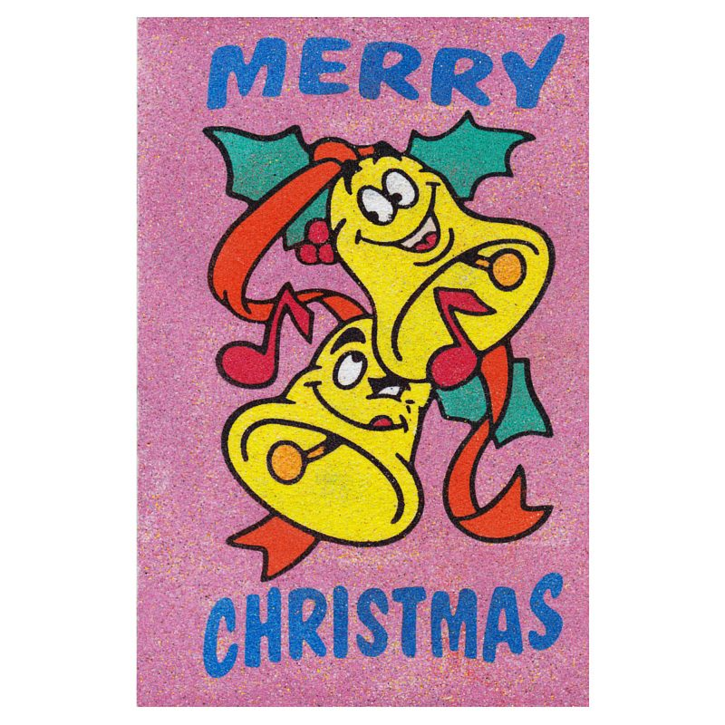 Sand Art Card Christmas Bells