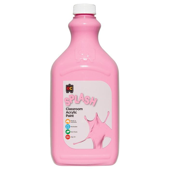 Splash Classroom Acrylic Paint 2L Pink (Cup Cake) CS2CC