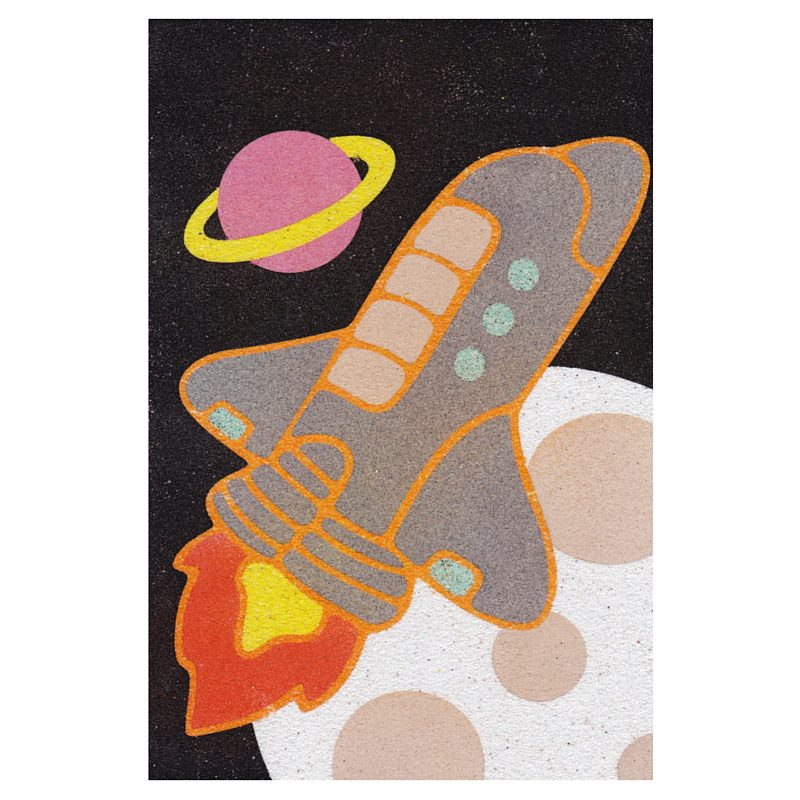 10 Spaceship Sand Art Card