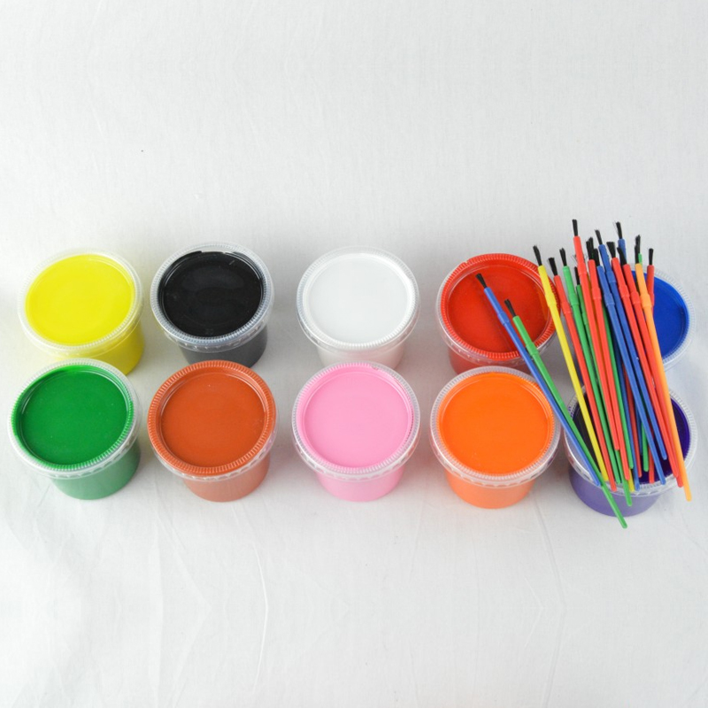 Plaster paint small paint tubs in 10 colours kidsplay for Plaster crafts to paint