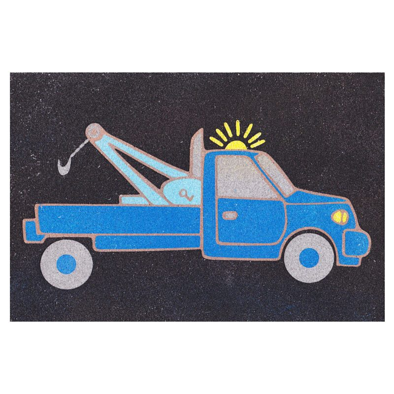17 - Towtruck Sand Art Card