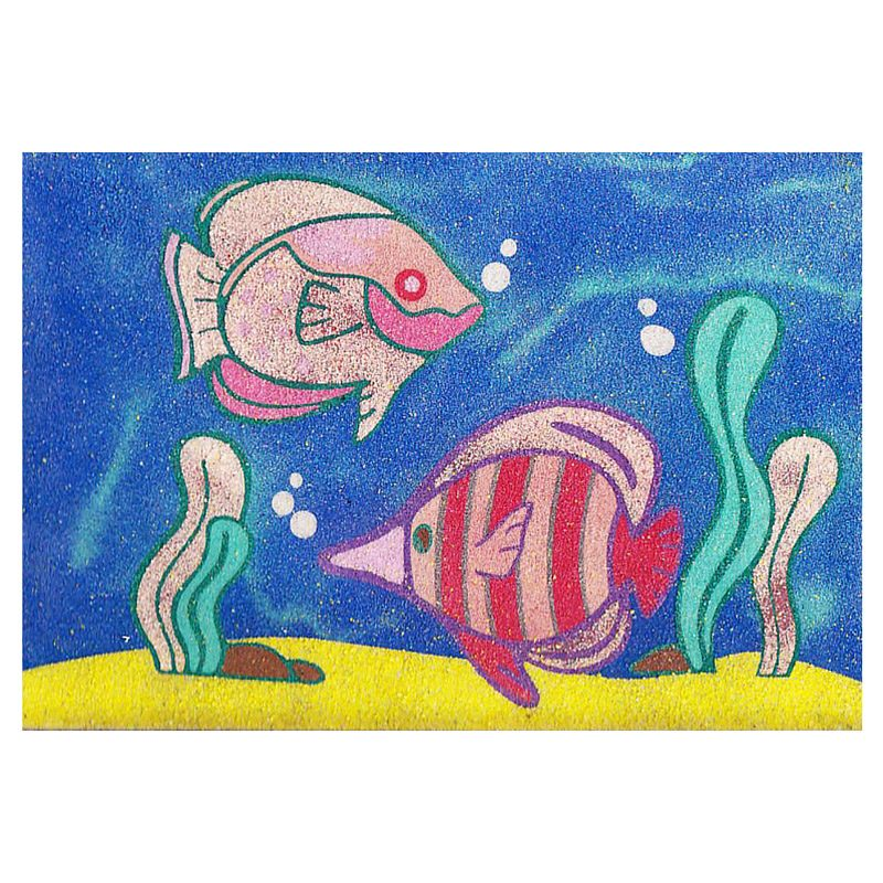 32 - 2 fishes sand art card