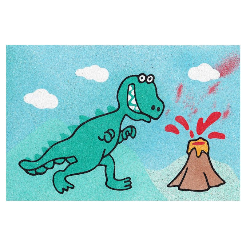 39 - Dinosaur Easy Sand Art Card