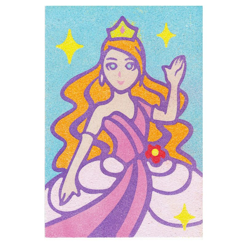 46 - Princess Sand Art Card