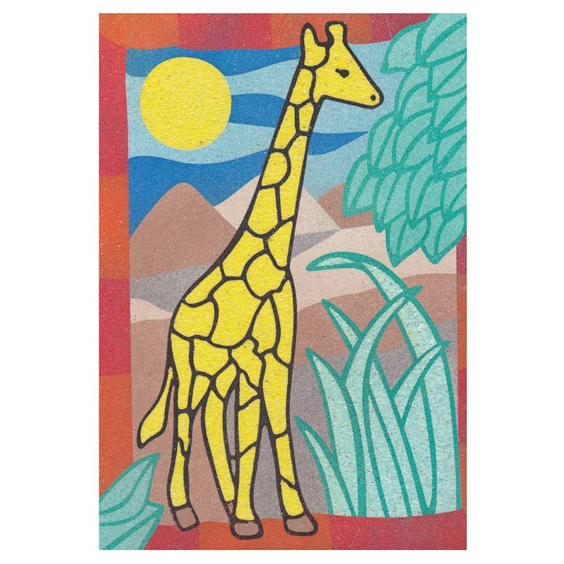 9 - Hard Giraffe Sand Art Card