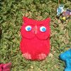 A completed plaster art owl
