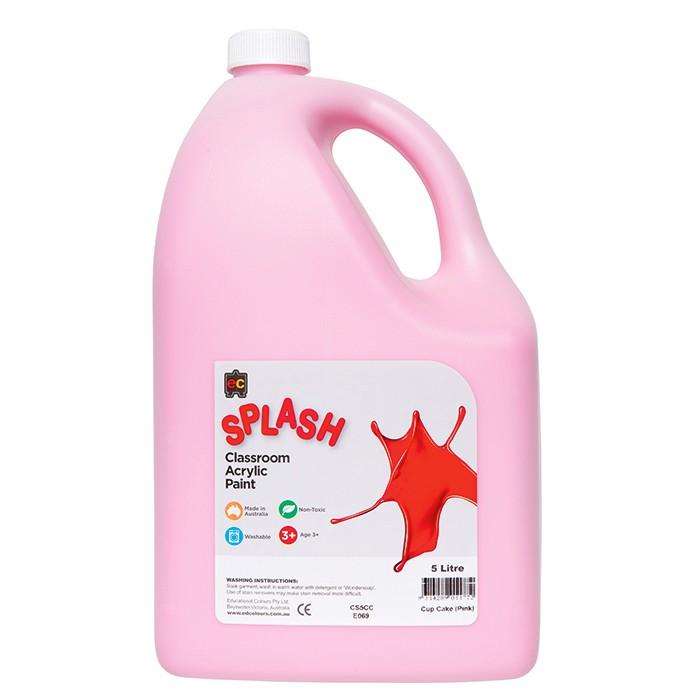 Splash Classroom Acrylic Paint 5L Pink