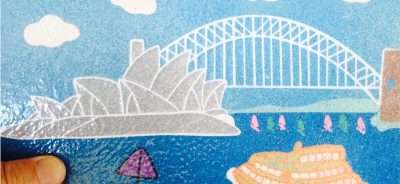 Sydney Harbour Sand Art