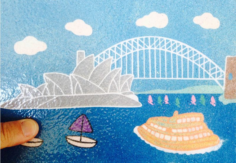 Australian designed Sand Art - Sydney Harbour Bridge!