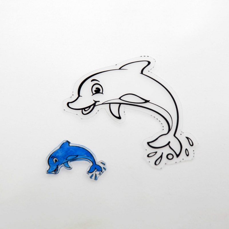Shrink Art Dolphin before and after