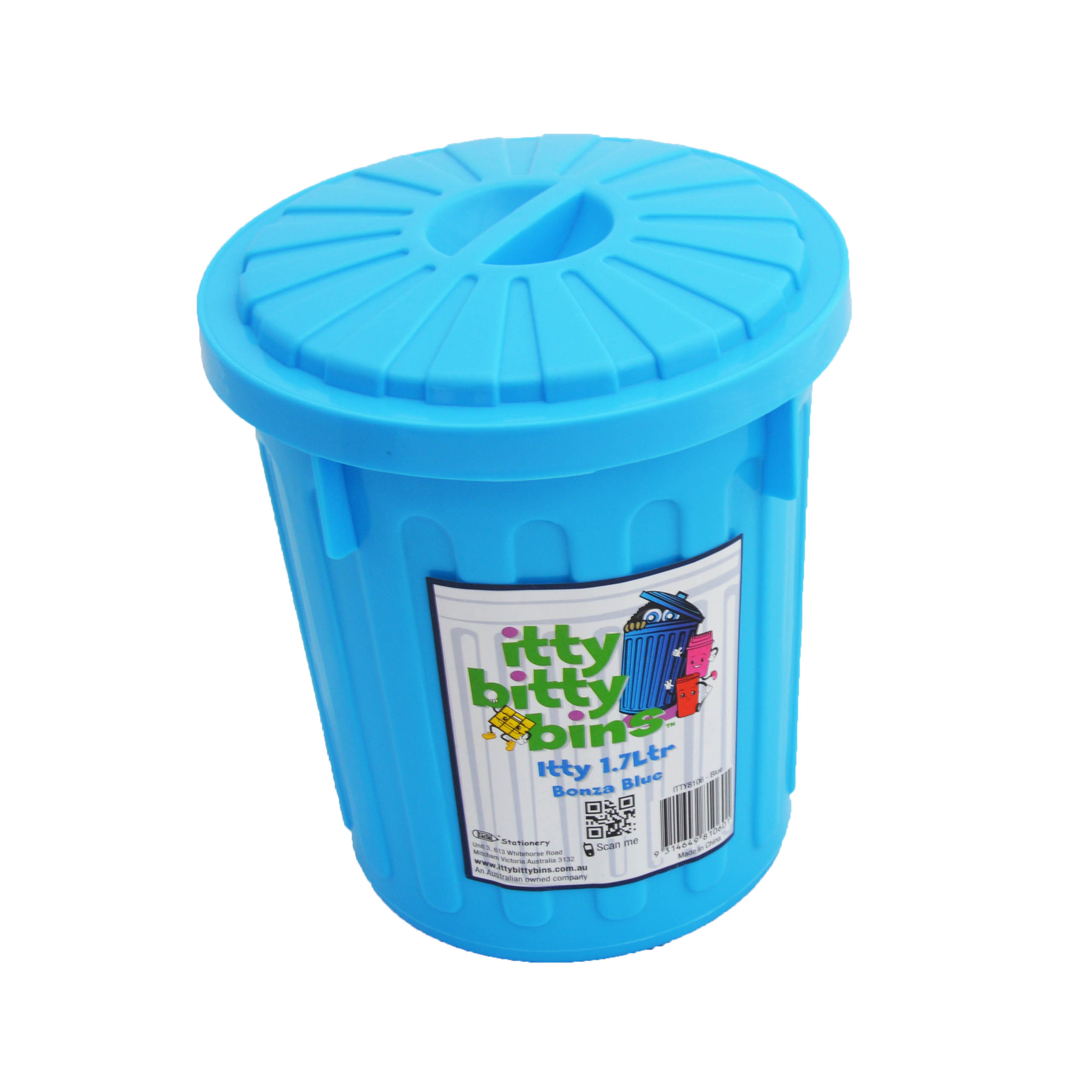 Itty Bitty Bins 1-7litre Blue Tidy Bin