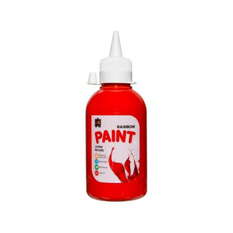 Rainbow Paint 250ml Brilliant Red R250RD