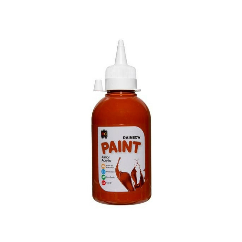 Rainbow Paint 250ml Burnt Sienna R250BTSN