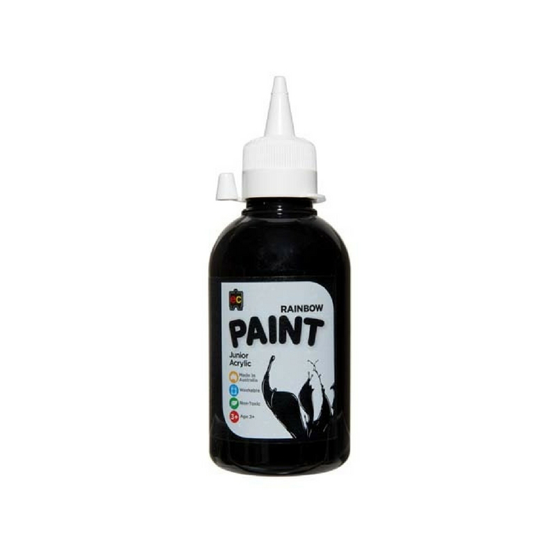 Rainbow Paint Black 250ml R250BLK
