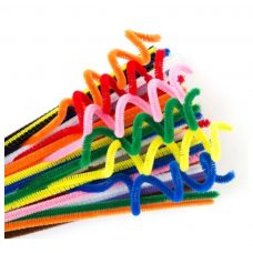 Chenille Stems Packet of 100 Standard Colours by Educational Vantage