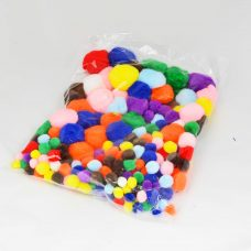 Pom Poms pack of 300 assorted colours and sizes
