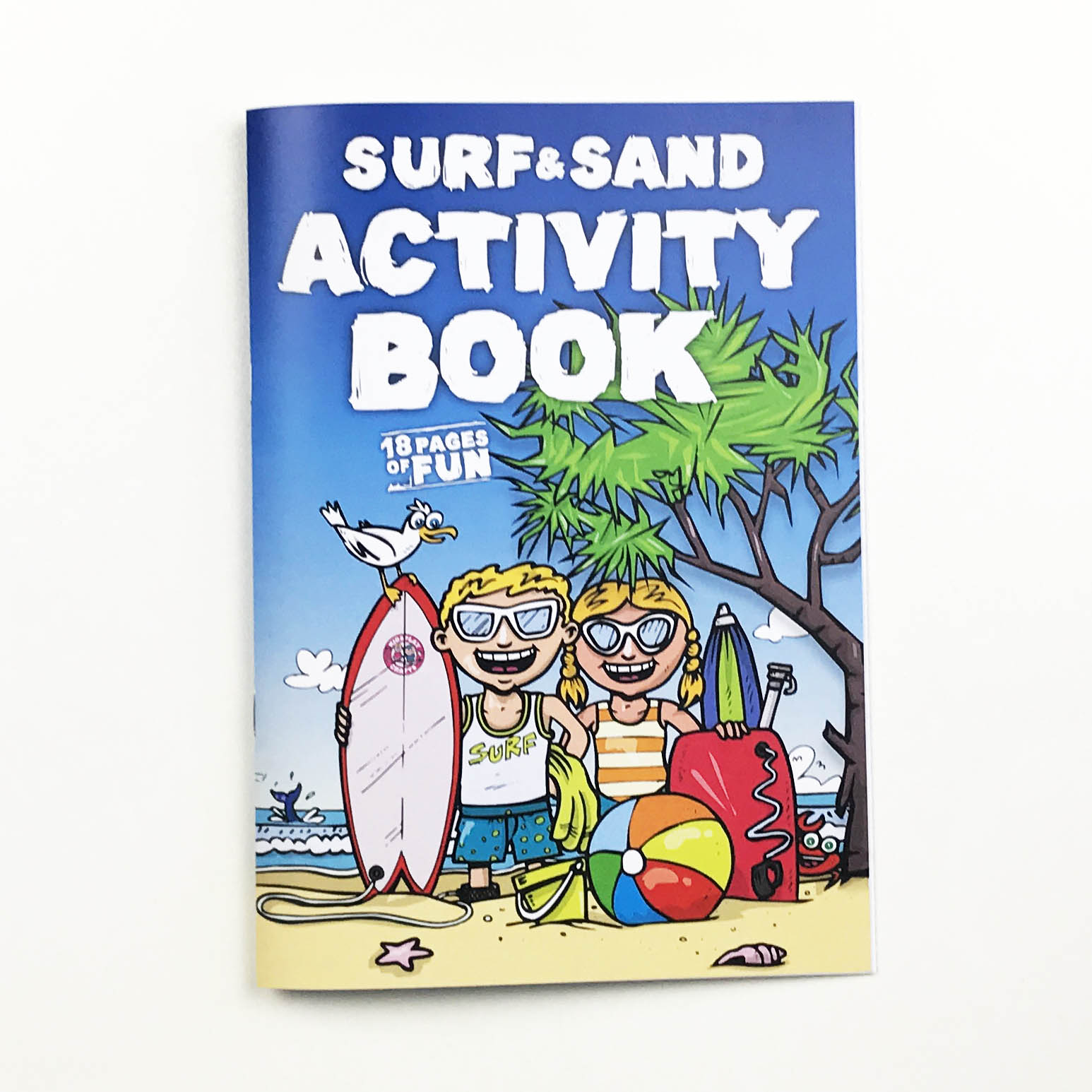 Surf & Sand Activity and colouring in Book for kids - keeps kids busy!