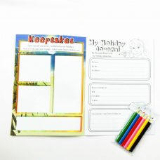 Kids Holiday Activity Book - My Holiday Album Yellow Inside Cover