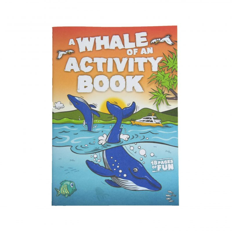 Whale Themed Kids Activity Book - Humpback Cover Page