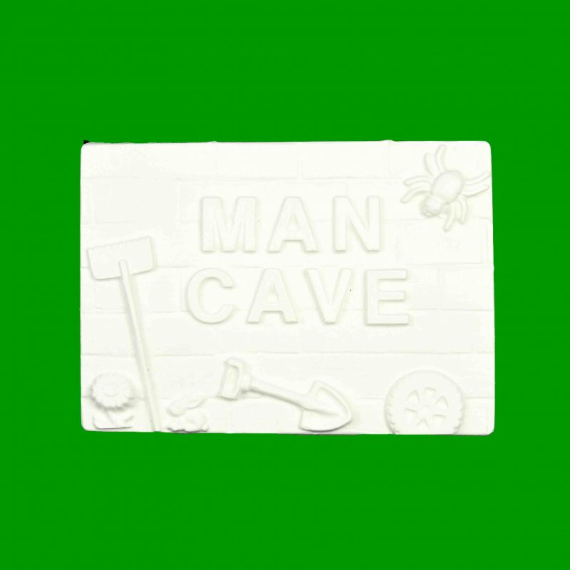 Man Cave Plaque Plaster Piece