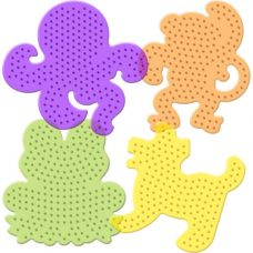 Pack of 4 animal pegboards