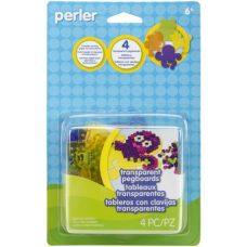 Perler Pegboard 4 pack transparent pegboards