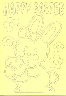 Easter Sand Art Cards - happy Easter Bunny
