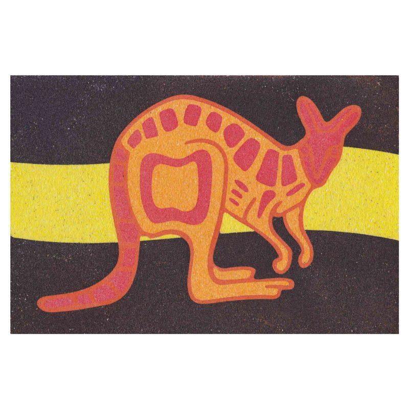 45 - Kangaroo Sand Art Card