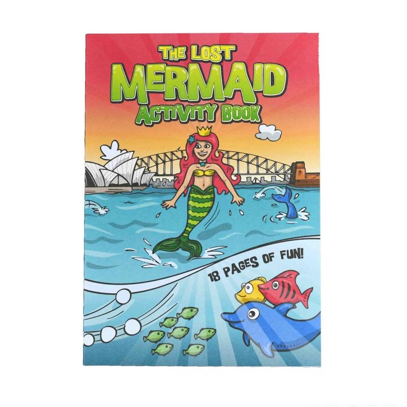Mermaid Theme Kids Activity Book 100 Packs