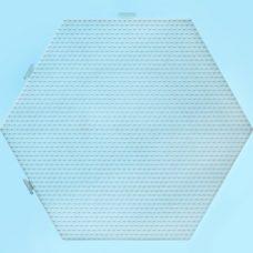 Super Hexagon Pegboard Clear