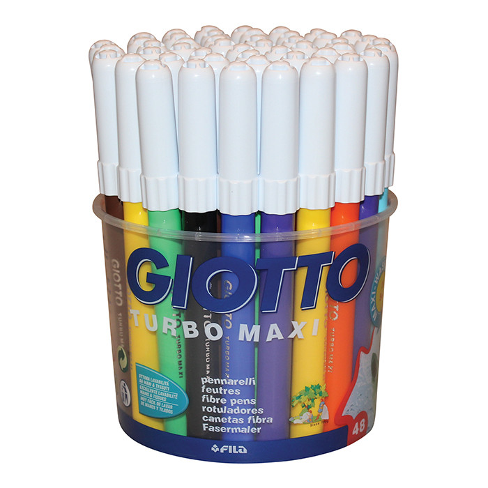 Giotto Turbo Maxi Markers Pack of 48