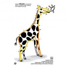 Giraffe Wikki Stix design in the Wikki Stix Animal Pak