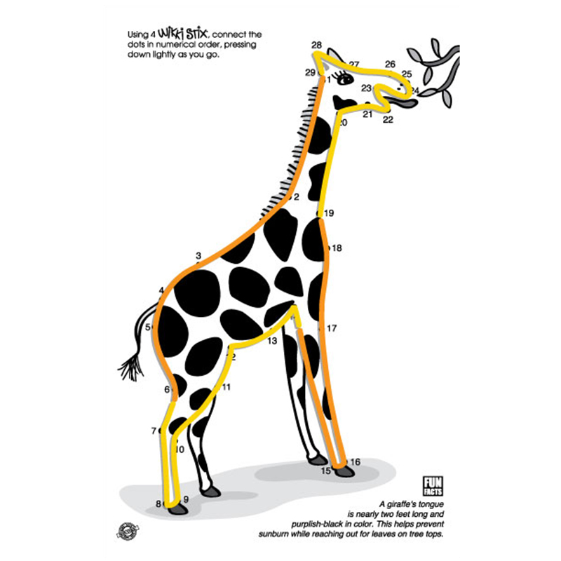 Giraffe Wikki Stix design in the Wikki Stix Animal Pak