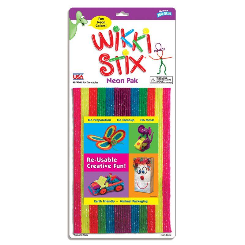 804 Wikki Stix Neon pack of 48