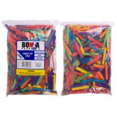 Bonza Small Paddle Pop Sticks 66mm coloured Pack of 1000