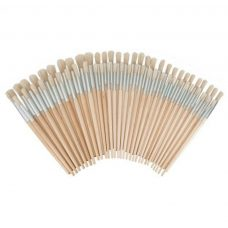 Hog hair brushes assorted round pack of 60