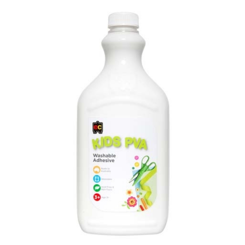 Kids PVA Glue 2 litres Educational Colours