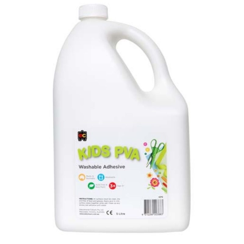 Educational Colours Kids PVA Craft Glue 5 litres