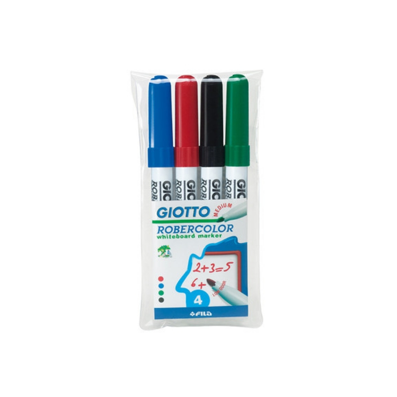Giotto Robercolor Whiteboard Markers Assorted Pack of 4