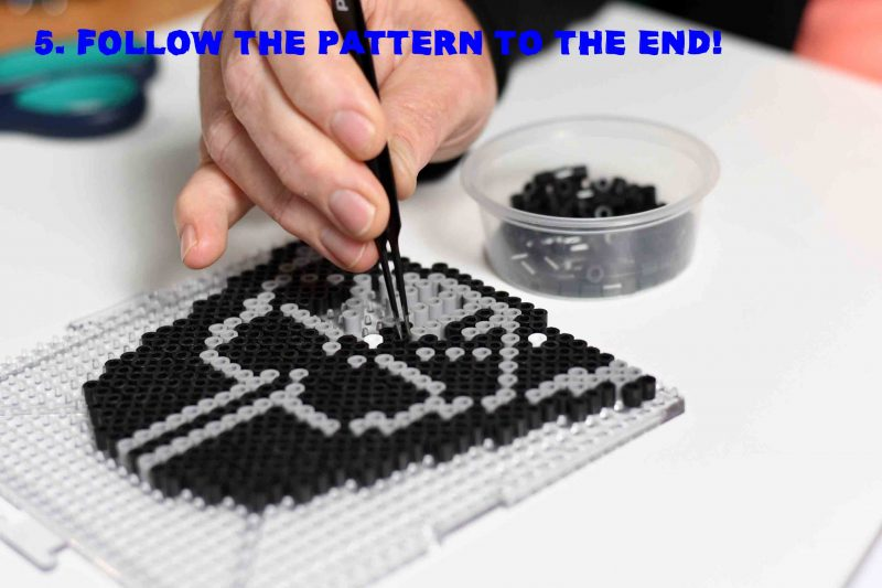 5. Complete the Perler bead pattern