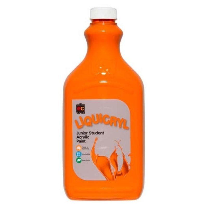 Liquicryl Paint Orange 2 Litres